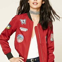 Route 66 Patched Bomber Jacket