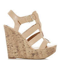 Stone Cork Wedge Gladiator Sandals