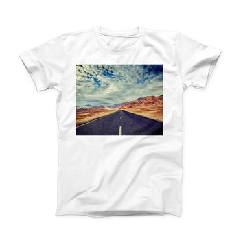 The Desert Road ink-Fuzed Front Spot Graphic Unisex Soft-Fitted Tee Shirt