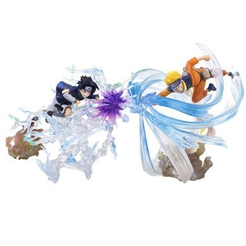 Naruto Sasauke ninja Uzumaki VS Sasuke  Japanese Anime Figure Action & Toy Figures Pvc Model Collection Girls Kids Lover Children  figurine AT_81_8