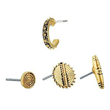 LAUREN Ralph Lauren Set of 4 Metal Studs Earrings