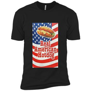 Classic Vintage Americana Hot Dog Graphic T-Shirt