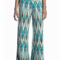 New Directions® Blurred Ikat Palazzo Pant - Belk.com
