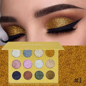 12 Colors Pressed Glitters Eye shadow Diamond Rainbow Palette