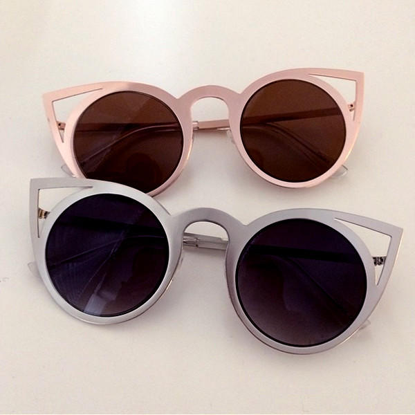 Sunglasses Cutout  cut out cat eye sunglasses from peonara