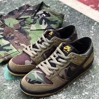 "Nike Dunk Low Pro SB Sneaker ""Olive green camouflage""854866-209"