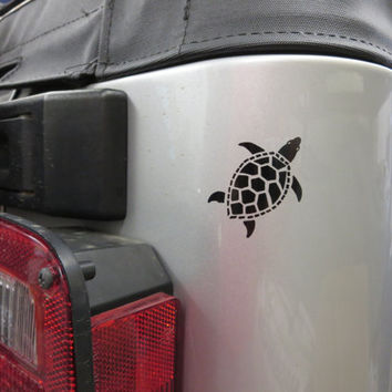 Sea Turtle Custom Vinyl auto vehicle window decal custom sticker