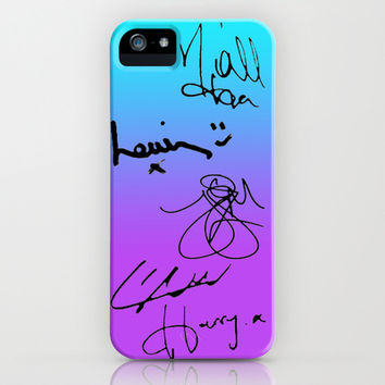 One Direction Signatures iPhone & iPod Case by Amy.