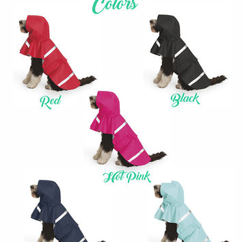 Monogrammed Dog Rain Coat - Charles River Doggie New Englander | Dog Rain Jacket | Personalized Rain Jacket | Monogrammed Raincoat