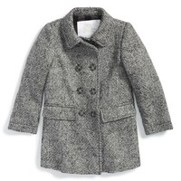 Toddler Girl's Burberry 'Gretchen' Double Breasted Coat,