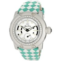 Glam Rock Women's GRD4003CT Palm Beach Diamond Accented White and Turquoise Braided Leather Watch - designer shoes, handbags, jewelry, watches, and fashion accessories | endless.com