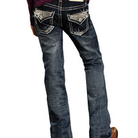 Rock & Roll Cowgirl® Girls' Rhinestone Flap Pocket Jeans