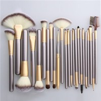 Makeup Brushes 24pcs Quality Natural Cosmetic Brush Set with Leather Pouch