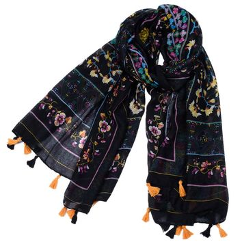 180*90CM High Quality Cotton Scarf Women Lady Shawl Tassel Printing Infinity Scarves  Mantilla Scarf Wrap Shawl