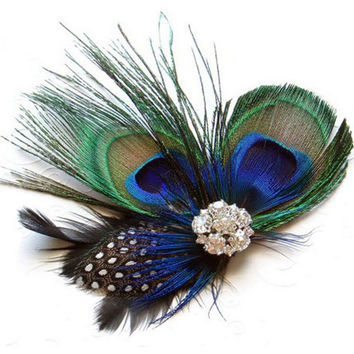 Feather Headband Vintage Peacock Hair Clips Women Summer Style Hair Clips For Girls Diadema Pelo Muje#121 SM6