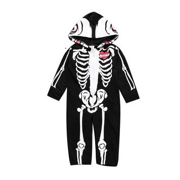Baby Halloween Costume Skull Skeleton Glow Romper Long Sleeve Infant Clothing Kids Jumpsuit Overalls Newborn Baby Clothes Set 30