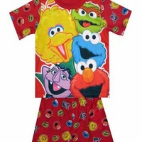 Sesame Street - Muppet Characters Red PJ for boys