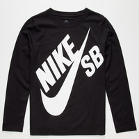 Nike Sb Big Logo Boys T-Shirt Black  In Sizes