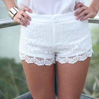 TWEE LACE SHORTS , DRESSES, TOPS, BOTTOMS, JACKETS & JUMPERS, ACCESSORIES, 50% OFF SALE, PRE ORDER, NEW ARRIVALS, PLAYSUIT, COLOUR, GIFT VOUCHER,,SHORTS,White,LACE Australia, Queensland, Brisbane