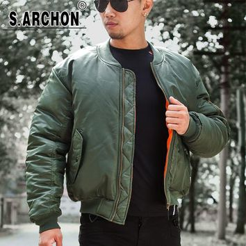 MA1 Men Winter Warm Military Airborne Flight Tactical Bomber Jacket Army Air Force Fly Pilot Jacket Aviator Motorcycle Down Coat
