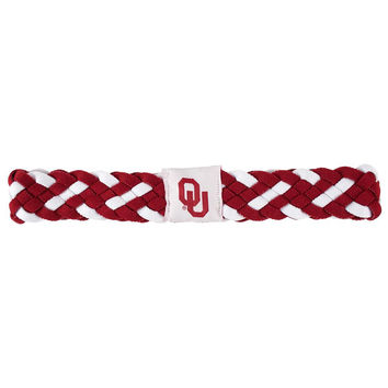 Oklahoma Sooners NCAA Braided Head Band 6 Braid