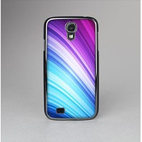 The Pink and Blue Glowing Neon Wave Skin-Sert Case for the Samsung Galaxy S4