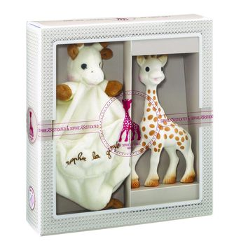 Sophie the Giraffe'Soother Holder - Sophisticated