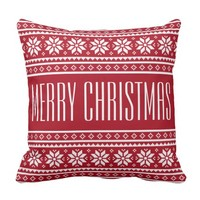 Personalized UGLY CHRISTMAS SWEATER throw pillows