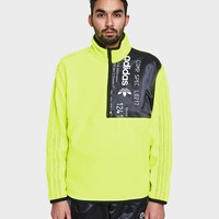 Adidas x Alexander Wang / AW Polar Half Zip in Solar Yellow