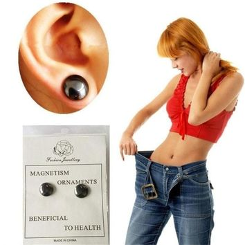 HOT Brand Fashion earring Bio Magnetic Slim Ear Stickers Earrings Acupoints Loss Weight Wearing Slimming