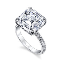 Asscher Cut 8.81ct Arabesque Ring