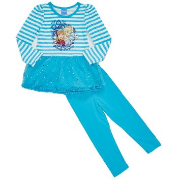 2pc Stripe Frozen Leggings Set 2T 4T 781079047 | Toddler Girl Clothes | Clothing | Burlington Coat Factory