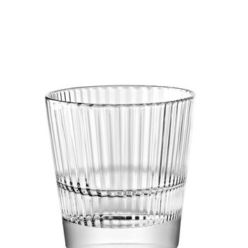 Majestic Gifts E65237-S6 Quality Glass Stackable Double Old Fashioned Tumbler 12 oz. Set of 6