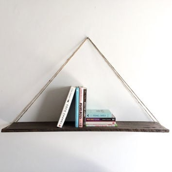 Handmade Hanging Pallet Shelf, Rustic, Beach, Decor, Reclaimed Wood, Home Decor, Repurposed, Wood, Furniture, Book Shelf, Floating Shelf