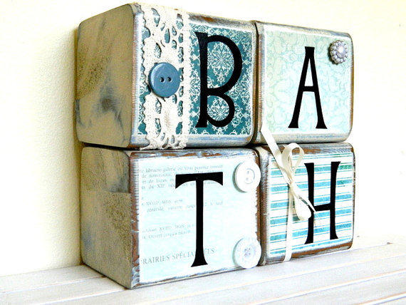 Bathroom wooden sign for the bathroom home decor by FayesAttic11
