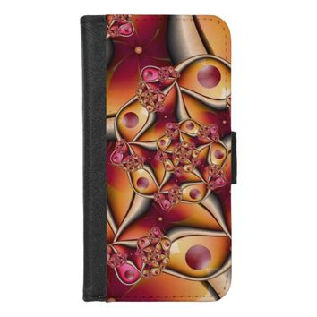 Colorful Joy Abstract Red Orange Fantasy Fractal iPhone 8/7 Wallet Case