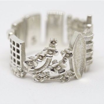 Tokyo Cityscape Statement Ring
