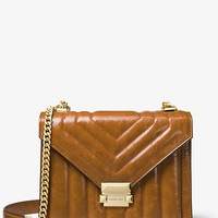 Whitney Large Quilted Leather Convertible Shoulder Bag | Michael Kors