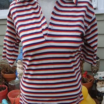 Vintage ARROW Striped POLO shirt
