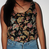 Floral tank top 90's