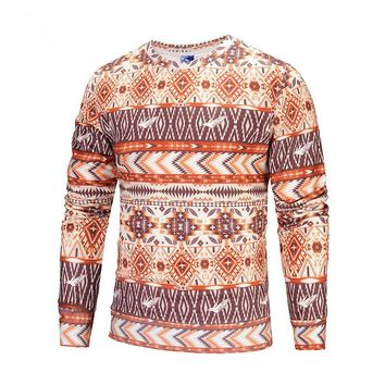 Winter and winter primer 3D printing sweater Europe and the United States plus cashmere sweater custom