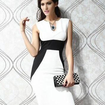 Womens Stunning Edgy Chiffon Work Office Dress