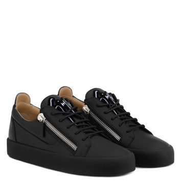 Giuseppe Zanotti Gz Frankie Black Calfskin Leather Low-top Sneaker
