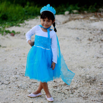 Frozen Elsa Dress, Frozen inspired queen Elsa Dress, Blue Dress, Elsa Dress, Birthday Dress