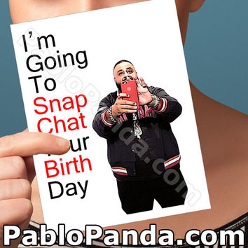 Funny Birthday Card | Dj Khaled Card | Gift For Men For Boyfriend Another One Birthday Boyfriend Handmade Greeting Key To Success Snapchat