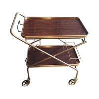 Pre-owned French Mid-Century Rolling Bar Cart