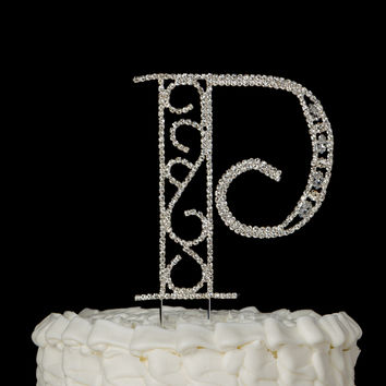 Cake Toppers Letter P : Best Monogram Cake Toppers Products on Wanelo