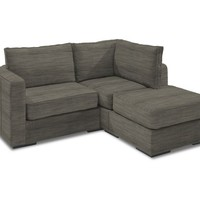 Small Chaise Sectional with Grey Tweed Covers