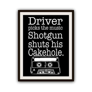 Supernatural Dean Winchester Music Quote Typography Print