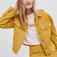 ASOS Cord Jacket Co-ord in Mustard at asos.com